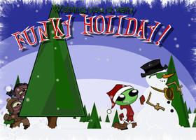 Funky Christmas Card by kingofsnake