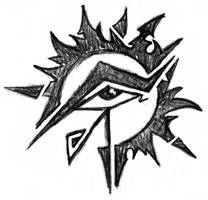 Eye of Horus Sun design by kingofsnake