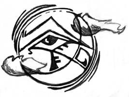 Eye of Horus Moon design by kingofsnake