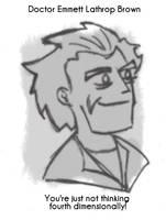 Daily Sketch 25: Doc Brown by kingofsnake