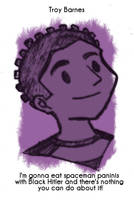Daily Sketch 27: Troy Barnes by kingofsnake
