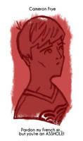Daily Sketch 28: Cameron Frye by kingofsnake