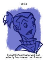 Daily Sketch 30: Sokka by kingofsnake