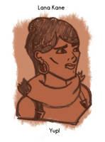 Daily Sketch 31: Lana Kane by kingofsnake