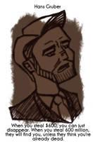 Daily Sketch 56: Hans Gruber by kingofsnake