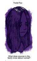 Daily Sketch 58: Violet Parr by kingofsnake