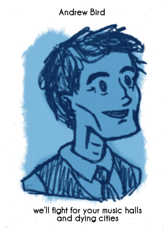 Daily Sketch 69: Andrew Bird by kingofsnake