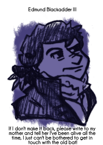 Daily Sketch 74: Blackadder by kingofsnake