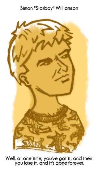 Daily Sketch 75: Sickboy by kingofsnake