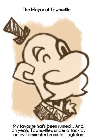 Daily Sketch 77: Mayor by kingofsnake