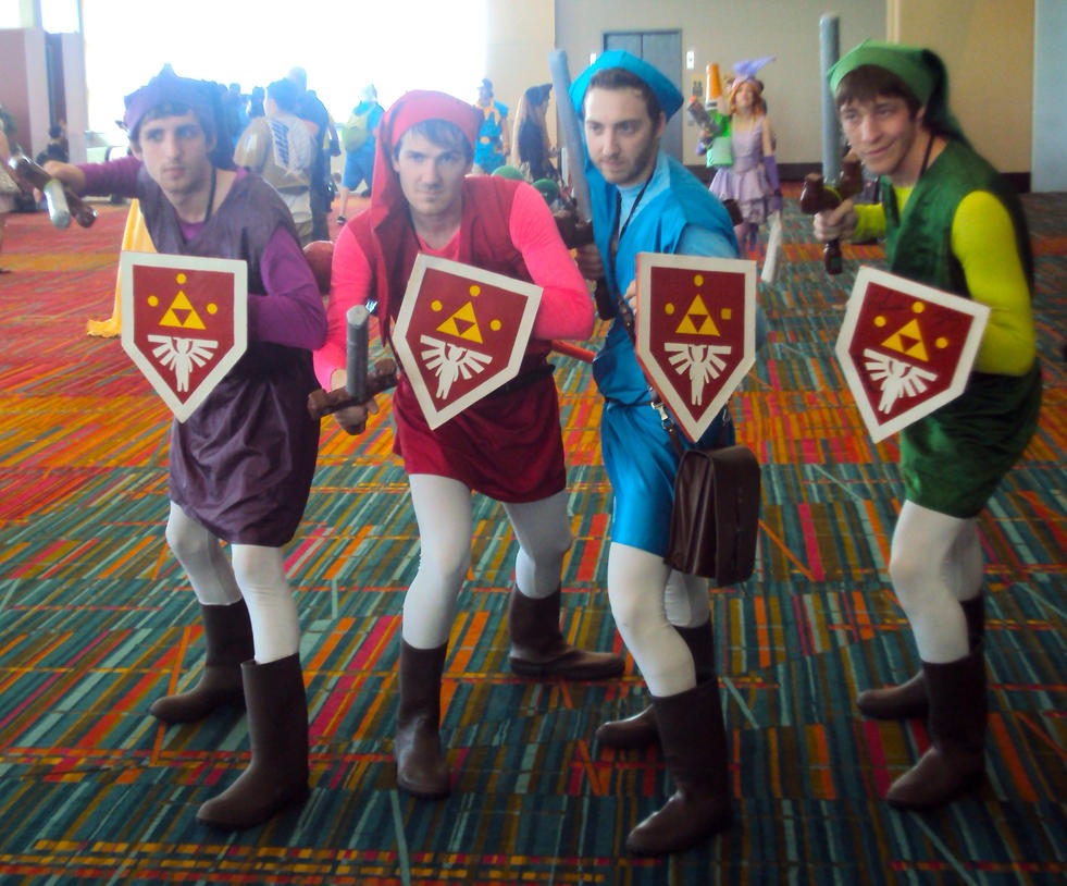 Link Four Swords Cosplay ConnectiCon '14: Four ...