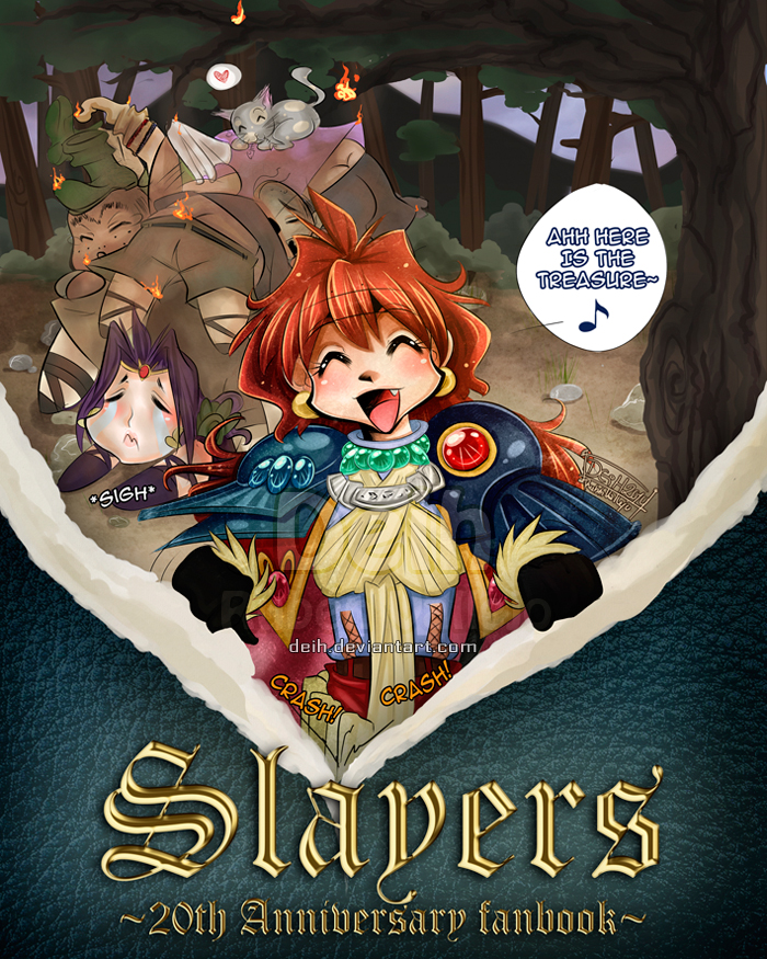 UPTADTED Slayers Fanbook Cover by Deih
