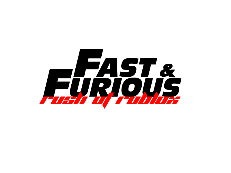 Fast and Furious:Rush of Roblox logo