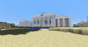 Minecraft - The Brandenburg Gate by MinecraftArchitect90