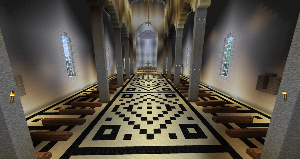 Minecraft florence cathedral interior by for Interior designs minecraft