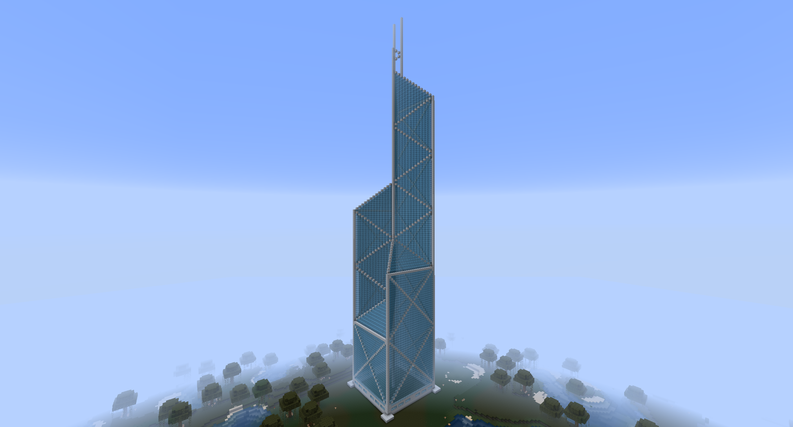 Minecraft Bank Of China Tower By MinecraftArchitect90 On