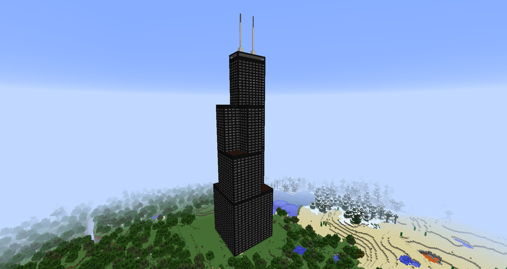 Minecraft Sears Willis Tower By Minecraftarchitect90