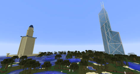 Minecraft - BOC Tower and Lighthouse of Alexandria