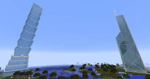 Minecraft - BOC Tower and Taipei 101