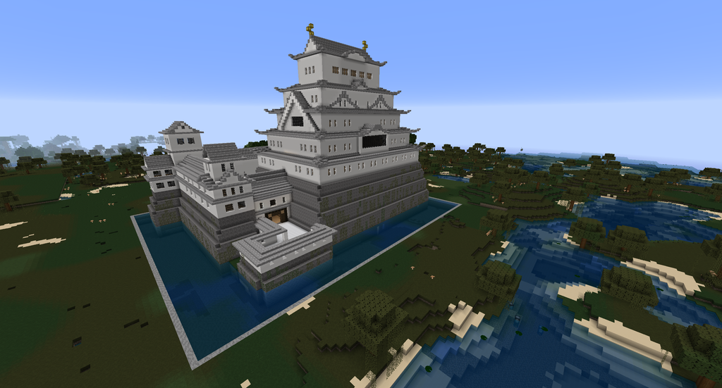 Minecraft Himeji Castle By Minecraftarchitect90 On