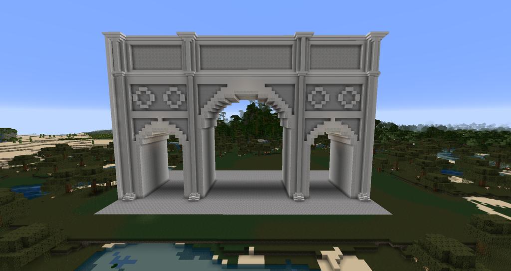 Minecraft Arch Of Constantine By MinecraftArchitect90 On