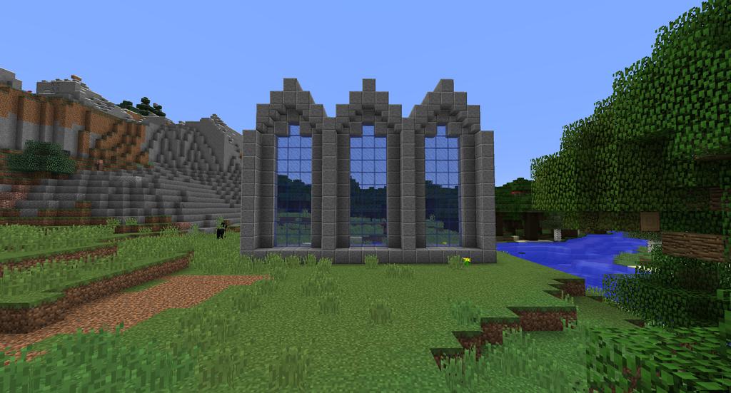 Minecraft gothic arch practice by minecraftarchitect90 for Minecraft interior wall designs