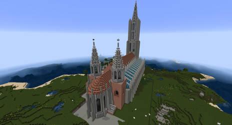 Minecraft - Ulm Minster, Rear View by MinecraftArchitect90