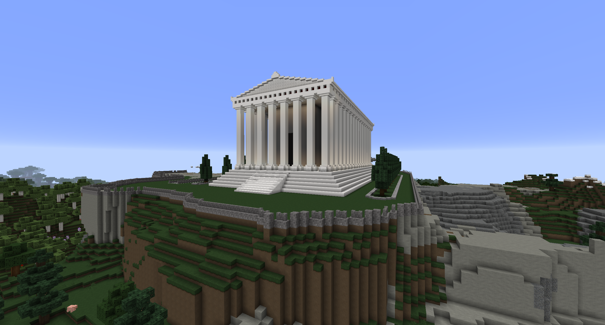 how to build the parthenon for a school project