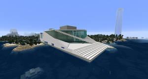 Minecraft - Oslo Opera House (Rebuilt) by MinecraftArchitect90