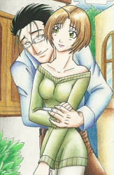 Lovely Gracia and Hughes color by KN-KL