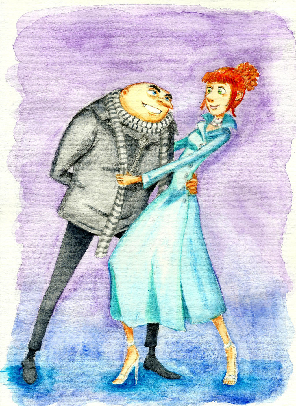 Gru and Lucy by KN-KL