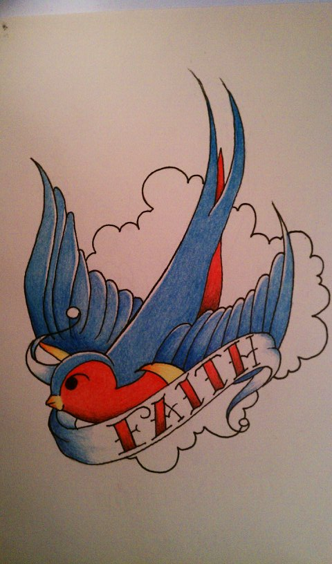 Sailor jerry swallow design by sl0ane on deviantart for Swallow art tattoo