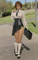 Shirow Naughty Schoolgirl