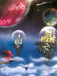City's in the sky
