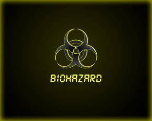 Biohazard yellow wallpaper by WinterWerewolf