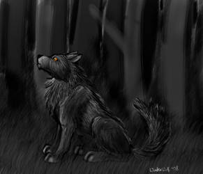 Wolfy by WinterWerewolf