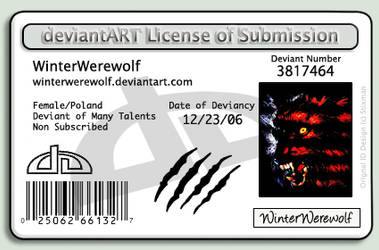 deviant License ID by WinterWerewolf