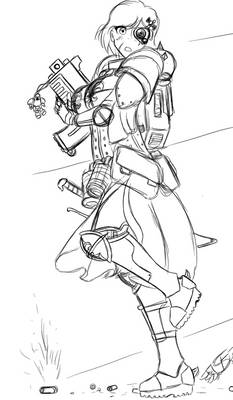 Trough the fire, Sororitas Sketch