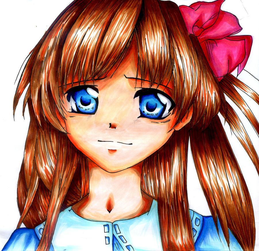 Manga girl - blue eyes by Sunny-la on DeviantArt