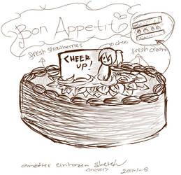 bizzare cake by einhazen