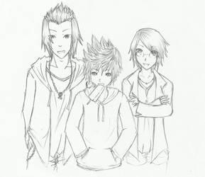 casual looks of trio BBS by einhazen