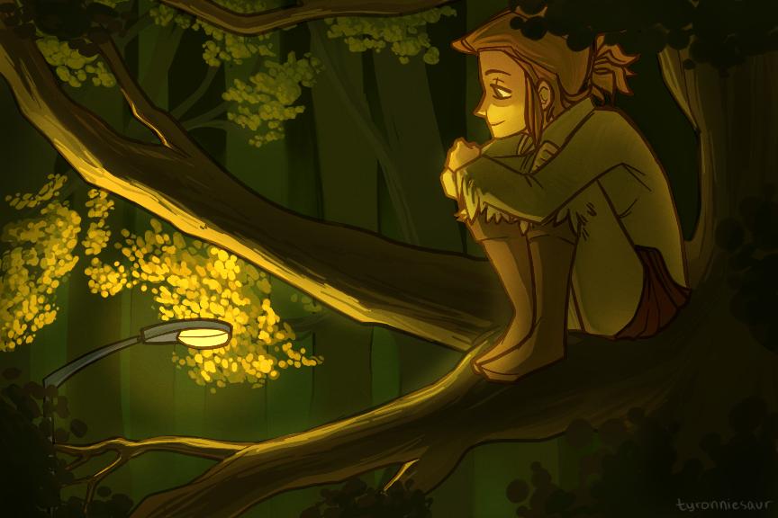 dusk by tyronniesaur