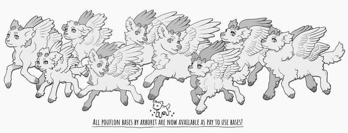 Pouflon bases up for sale!