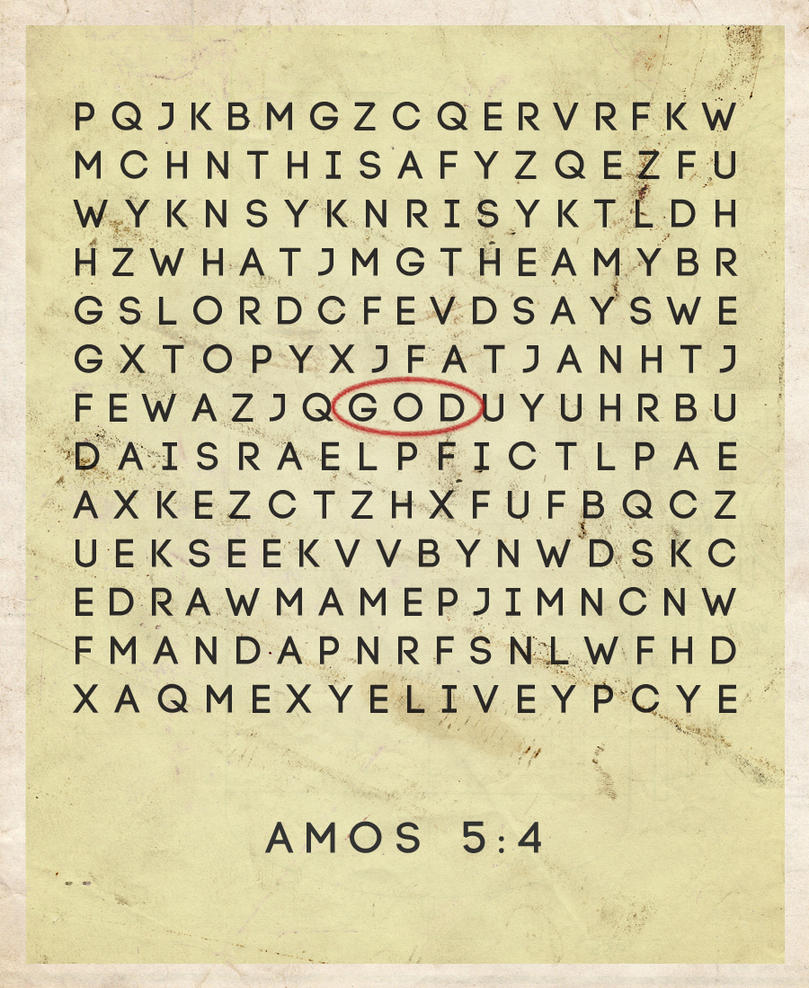 Amos 5:4 by Blugi