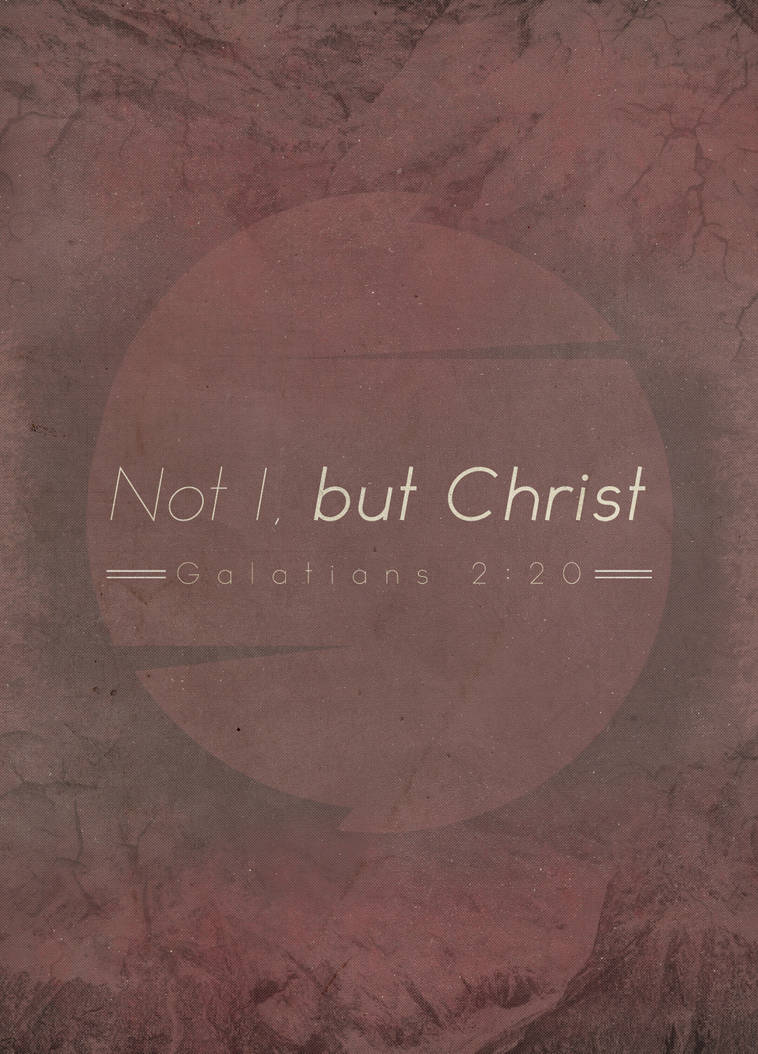 Not I, but Christ by Blugi