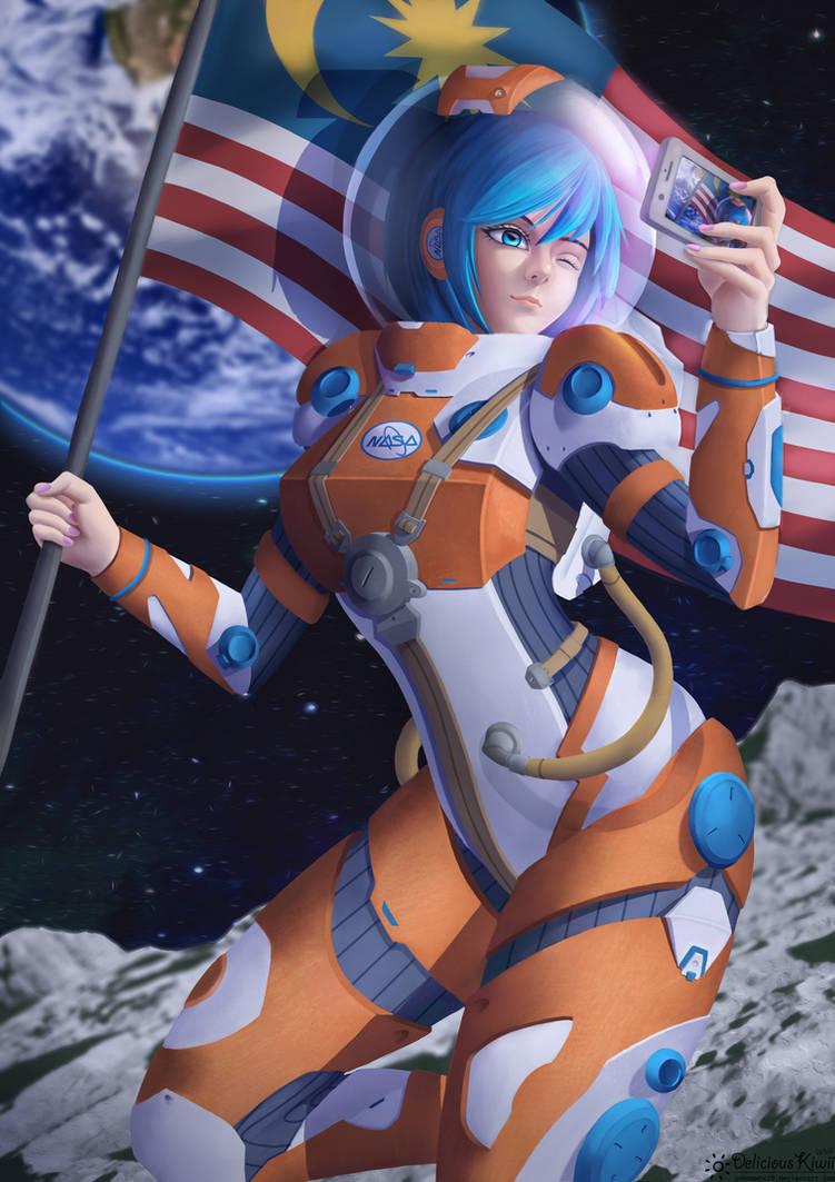 Astronaut girl by UnknownXz9