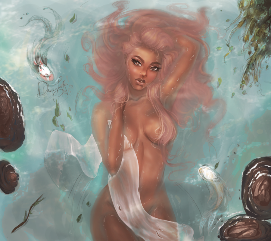 Woman In Water by drawingsbygia