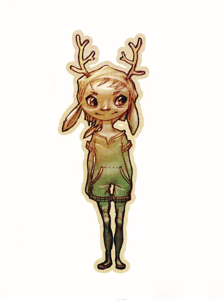 Deer Girl by carlottArt