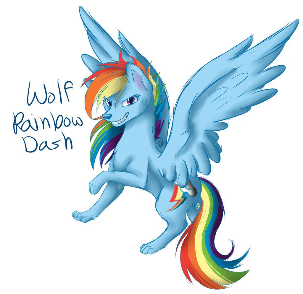 Rainbow Dash Wolf