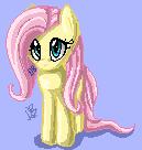 Pixel Fluttershy by DragonGoddess1